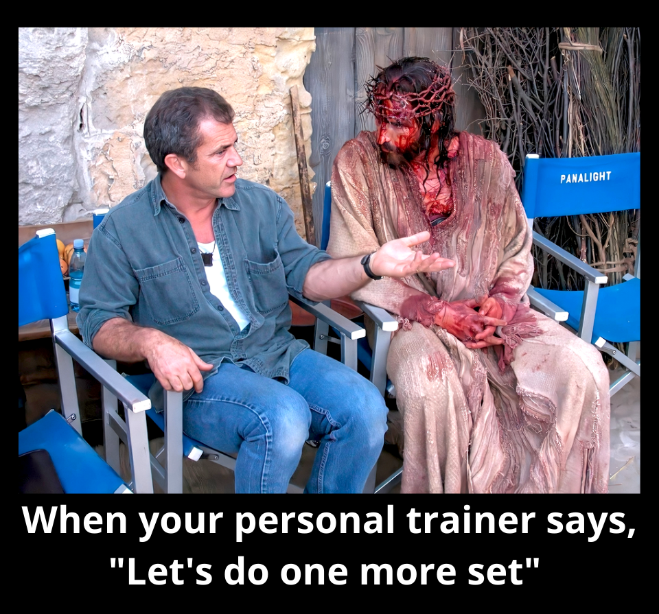 Jesus Christ Gibson personal trainer gym workout