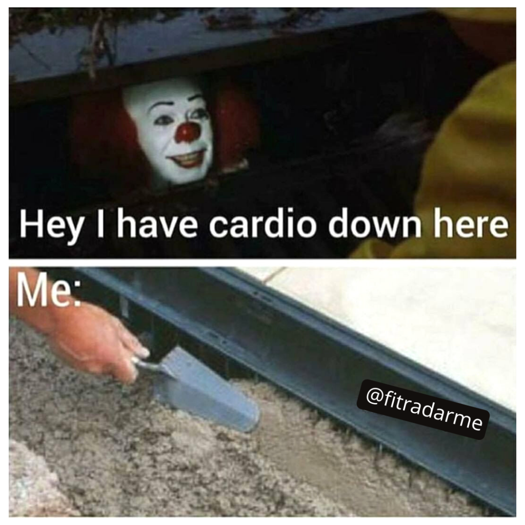 meme gym humor personal trainer fitness sports pennywise